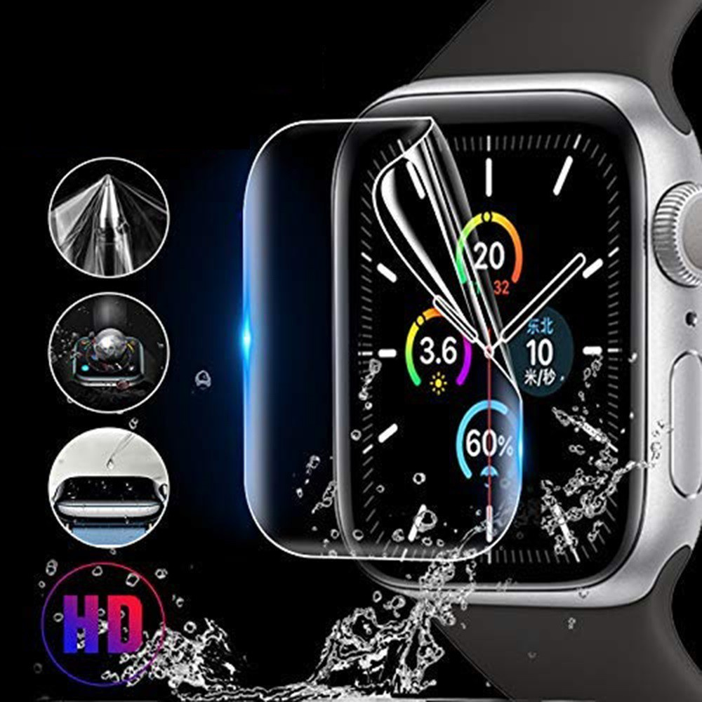 ฟิล์ม เต็มจอ ลงโค้ง โฟกัส ฟิล์ม สำหรับ AppleWatch Sport Series 1 / 2 / 3 / 4 / 5/6 SE Nike s TPU Film Applewatch ฟิล์ม