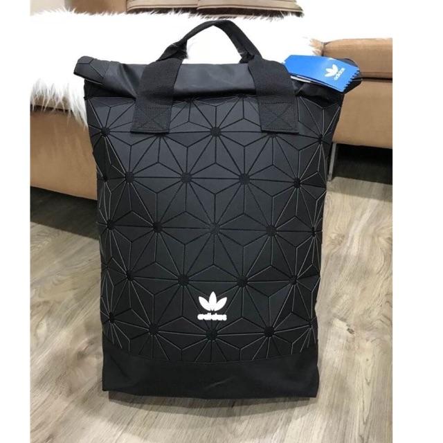 Don't Miss! Adidas 3D Roll Top Backpack Y2018 (หูคู่) กระเป๋าเป้ Unisex ดีไซน์สุดฮิตสไตล์ ISSEY MIYAKE แท้ 💯%