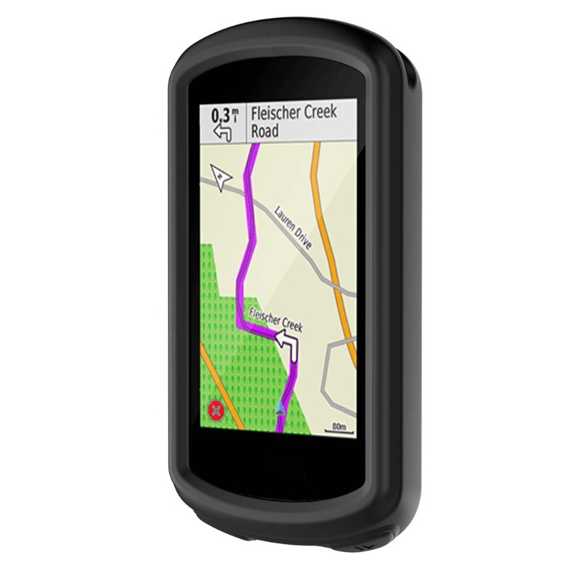Soft Silicone Bike GPS Navigation System Protective Cover kwmobile Case Compatible with Garmin Edge 830 Black