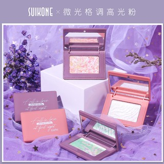 Sukarna Shimmering Style High Glossy Powder Eyeshadow Dual-use Three-Dimensional Contouring Fine Flash Fairy Plate Natur