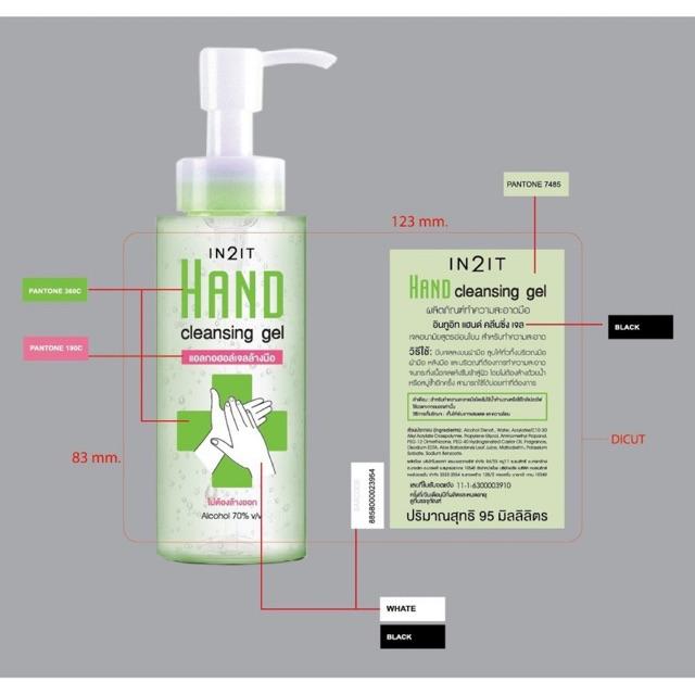 พร้อมส่งเจลล้างมือ ขนาดพกพา in2it ขนาด95ml จัดส่งเร็วและทันที มือนิ่มด้วยค่ะรับเยอะลดได้ค่ะ