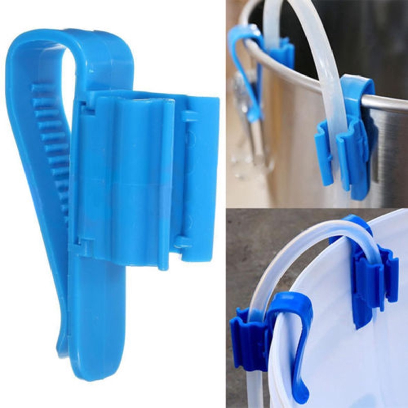 2XSyphon Tube Bucket Clip For Syphoning Beer Wine Lager Cider Home Brew Plastic