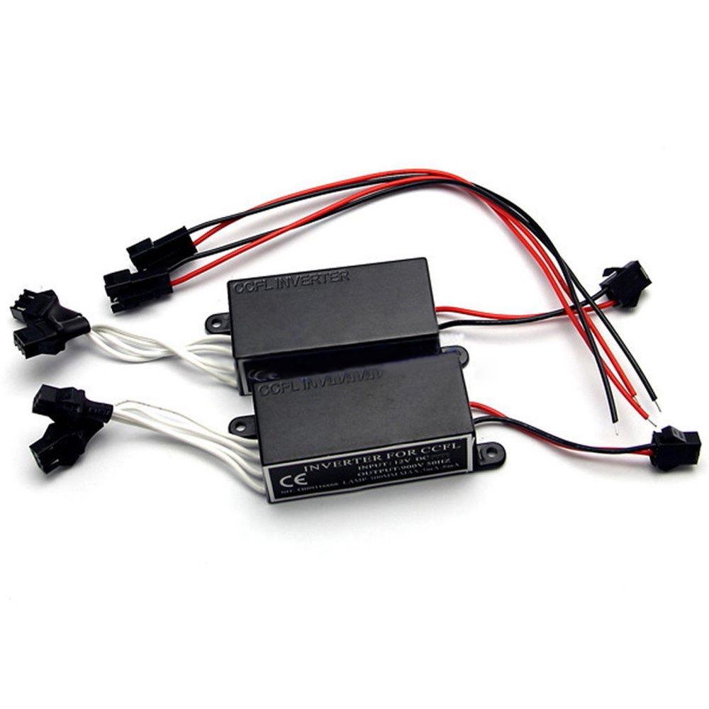 ✨Jacansi✨1pc Inverter Ballast For CCFL Angel Eyes Halo Rings Light 12V  Female 2 Outputs