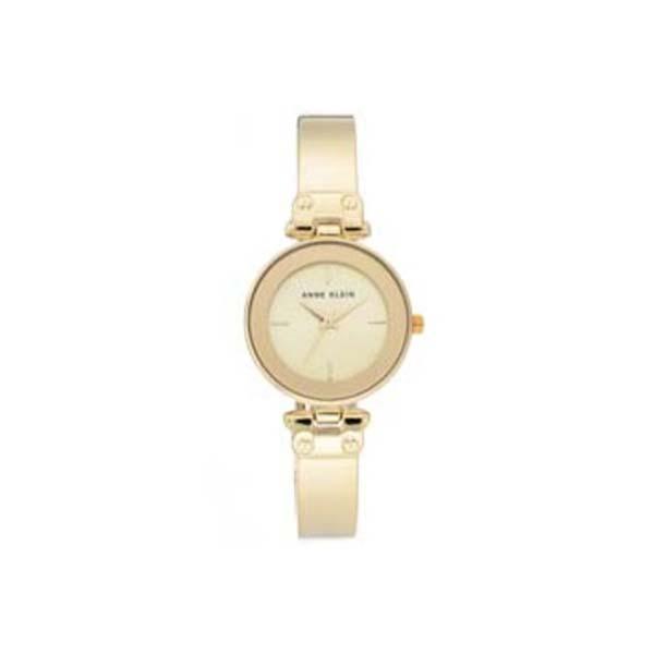 Anne Klein AK-AK-3062CHGB นาฬิกาข้อมือผู้หญิง สายstainless สีทอง