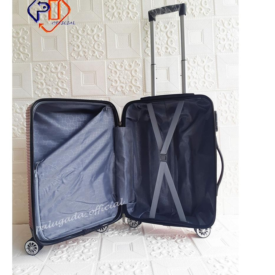 Code-491 กระเป๋าเดินทาง (can 3 Luggage) Abs 010 24 นิ้ว + เคส 20 นิ้ว + เคสความงาม 12 นิ้ว