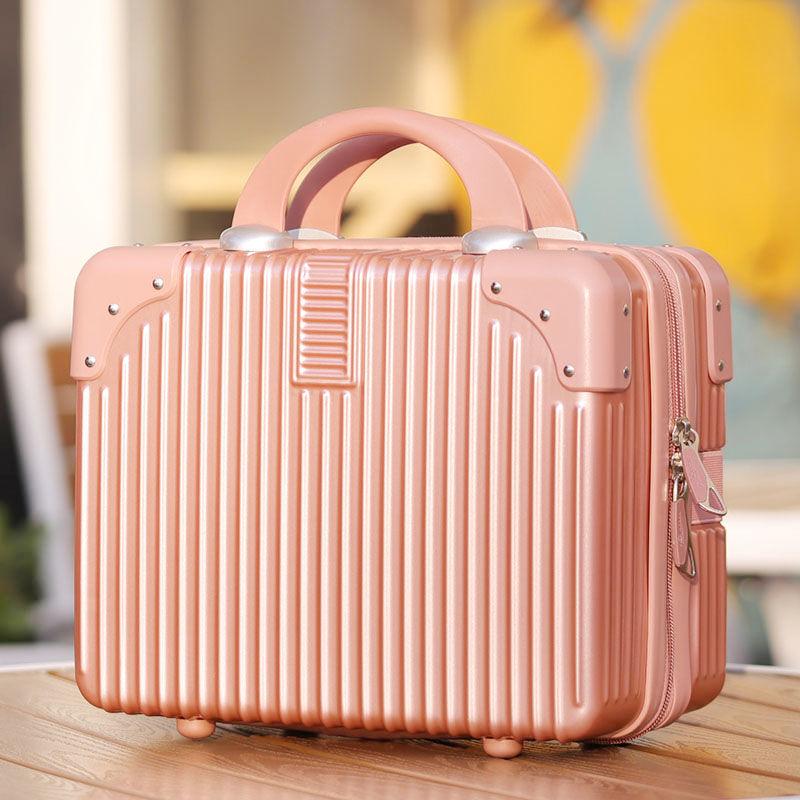 กระเป๋าเป้เดินทาง CODกระเป๋าเดินทางขนาดเล็กย้อนยุค14นิ้วกระเป๋าเครื่องสำอางแต่งงานสินสอดทองหมั้นเดินทางกล่องขนาดเล็กกระเ