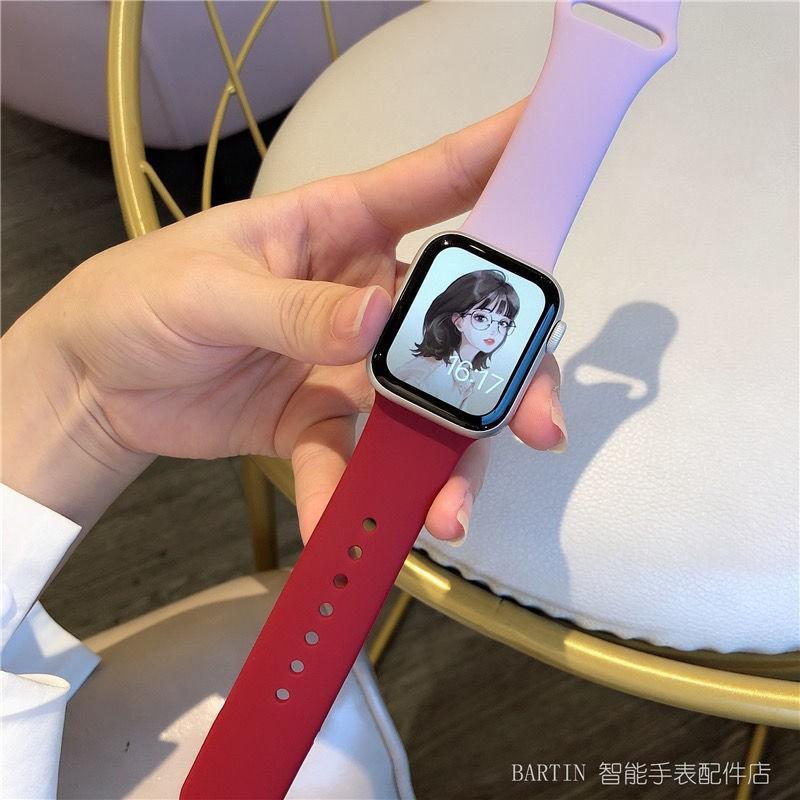 สายนาฬิกาข้อมือซิลิโคนสําหรับ Applewatch 1-6 Se