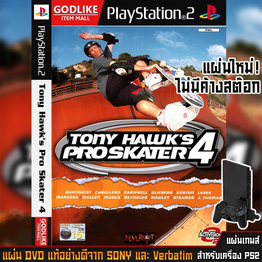 ps5 แผ่นเกมส์ ps2 ps4 มือสอง 🎮 แผ่นเกมส์ PS2 - Tony Hawk's Pro Skater 4   GODLIKE 💯