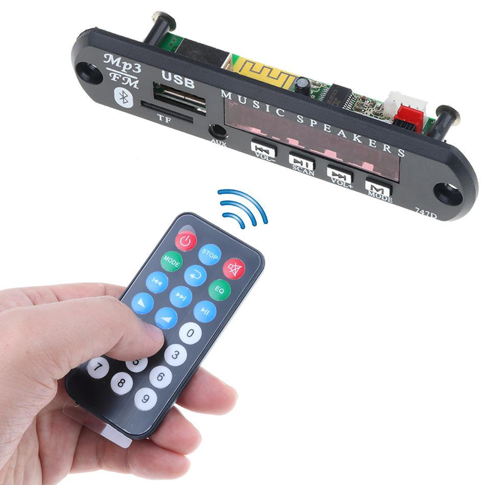Review 5V 12V Wireless Bluetooth MP3 WMA Decoder Board Audio Module Car accessories