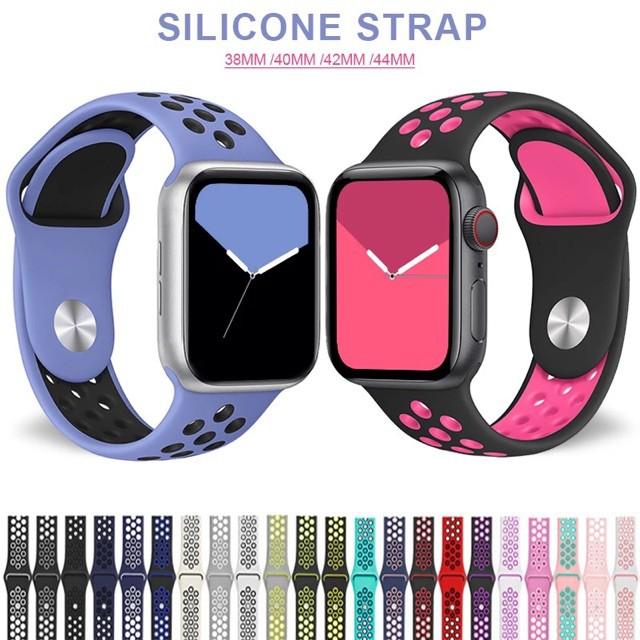 NIKE W 26 Ft 50 Iwatch Nike สายรัดข้อมือซิลิโคนสําหรับ Apple Watch 44 มม. Iwatch 42 มม. Series 4 5