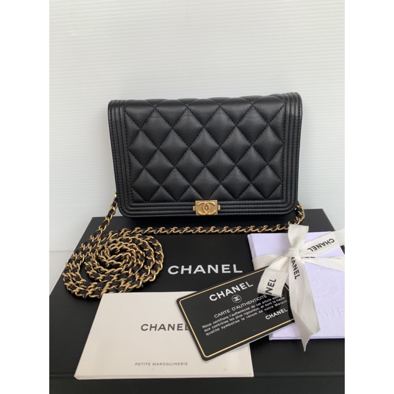 Used Like new Chanel woc boy caviar ghw holo23