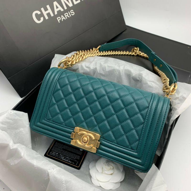 กระเป๋า Chanel boy งานออริ หนังแท้ทั้งใบ