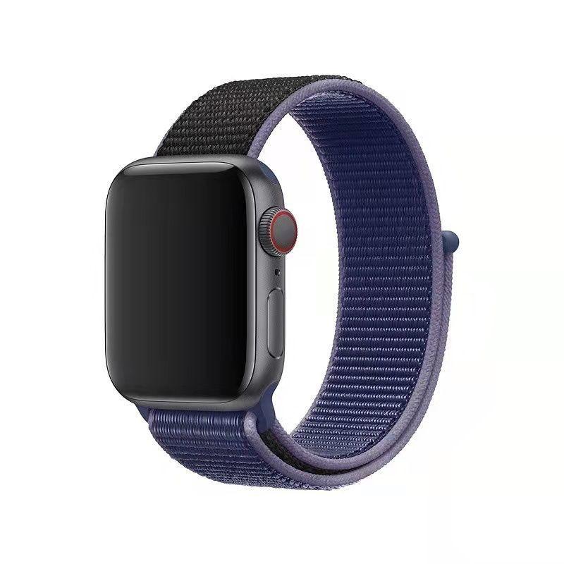 สาย applewatch Applicable to Apple Watch se/6/5 generation nylon loop sports breathable strap iwatch nylon Applewatch