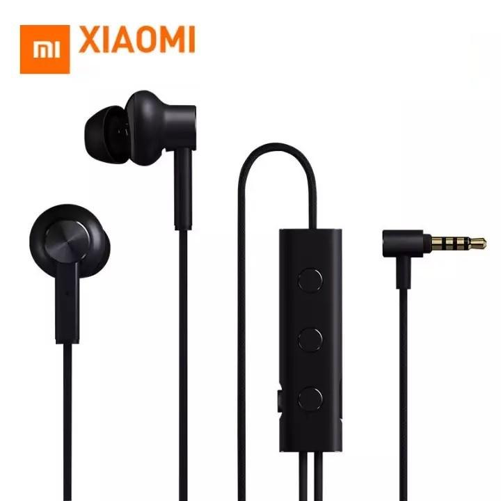 Xiao Mi ANC หูฟังตัดเสียงรบกวนหูฟัง 3.5 มม. อินเตอร์เฟสตัวเชื่อมกระแสไฟชนิดใส่ในหูควบคุมไมโครโฟนสำหรับ