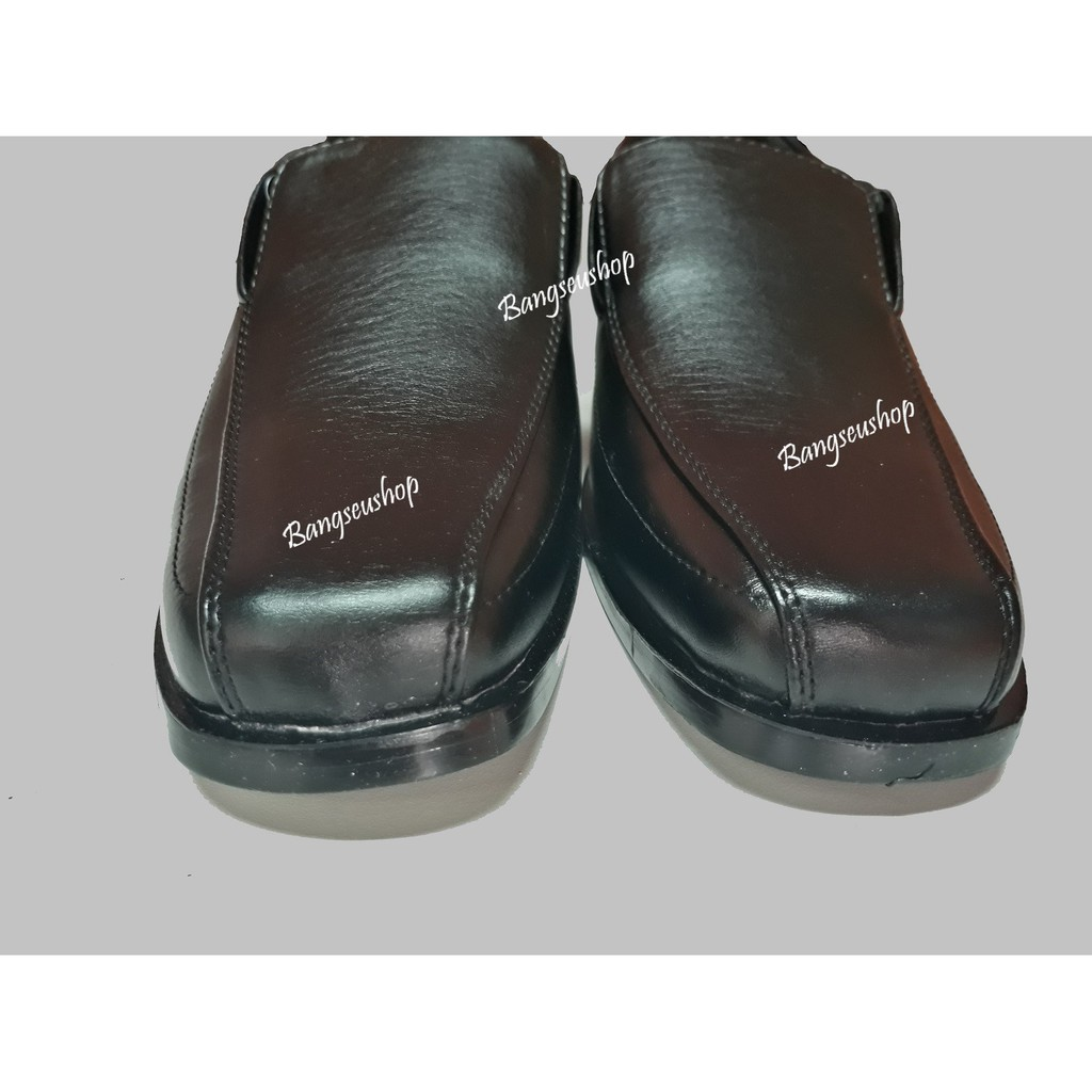 №รองเท้าหนังผู้ชาย รองเท้าคัชชู พื้นเย็บ สีดำ2