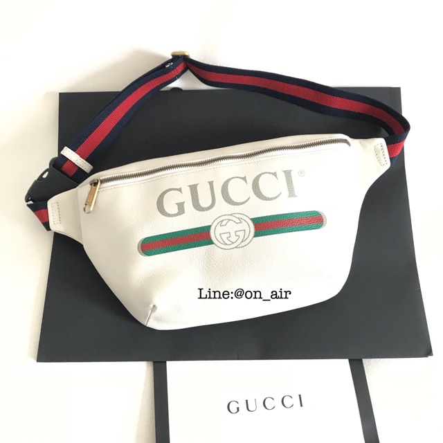 New gucci print belt bag ไซส์นี้ สีนี้ขายดีมาก