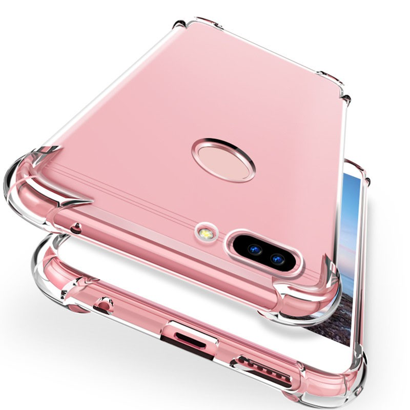 Samsung Galaxy J3 J7 J8 J4 J6 A8 A6 Plus Prime A7 A9 J2 Pro 2018 A6S A8S Transparent Four Edge Shockproof Soft Case