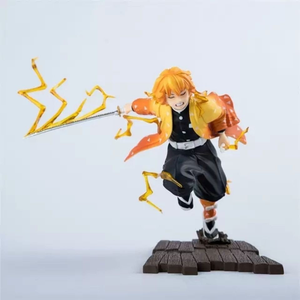 ☬☾✿My Wife Shanyi Figure Model Demon Slayer Blade Breath of Thunder Thunderbolt Ghost Gk Statue Decoration