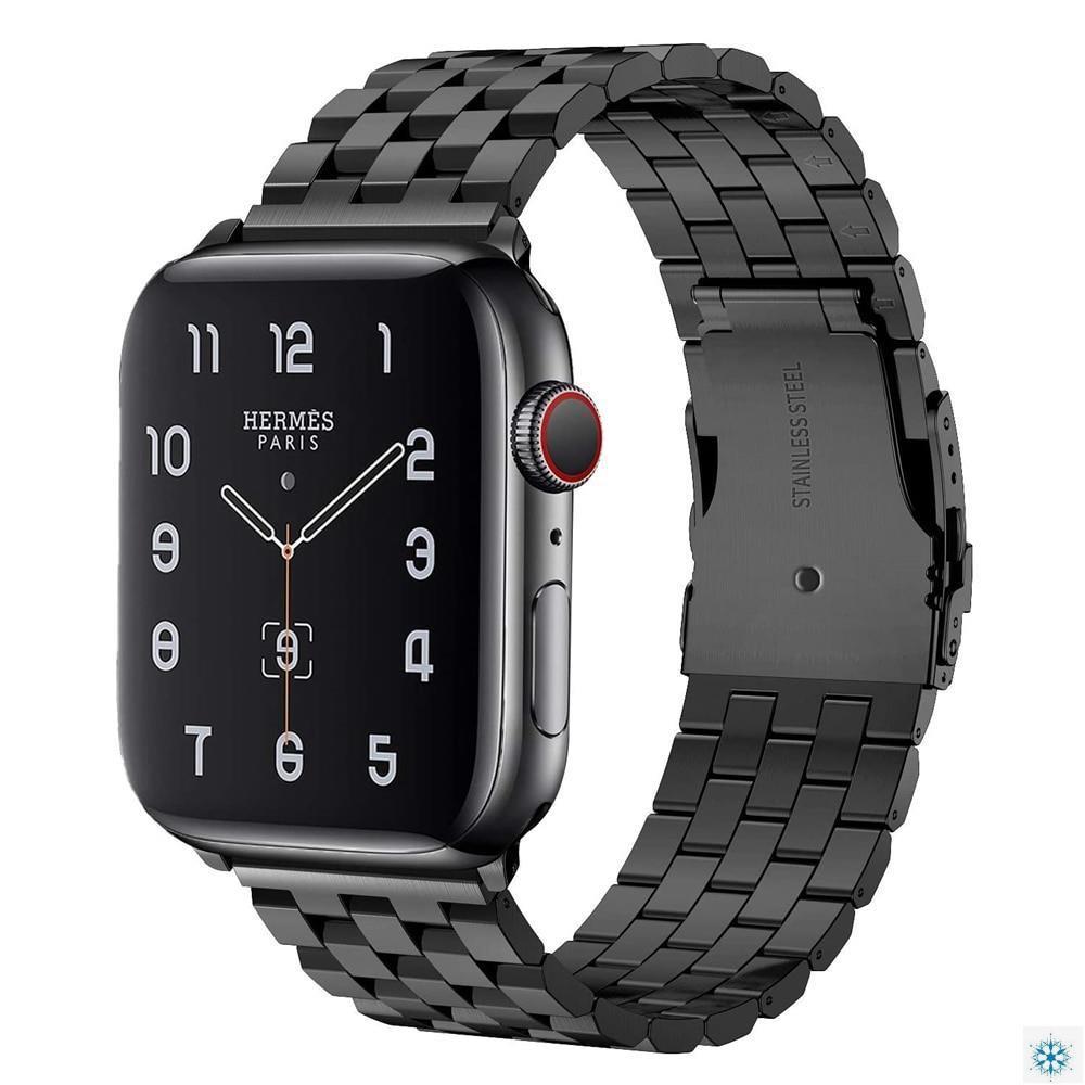 สายนาฬิกาข้อมือสแตนเลสสําหรับ Apple Watch Se 6 5 4 44mm 40mm Band Iwatch Series 3 2 38mm 42mm
