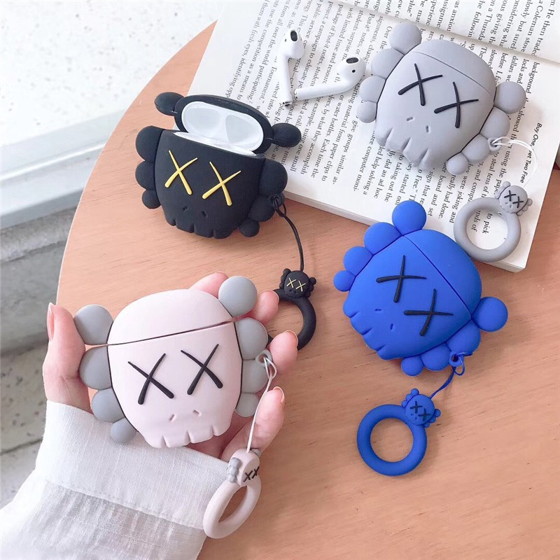 Apple AirPods Case airpods Covers Soft Case airpods 2 Earphone case Kaws ring