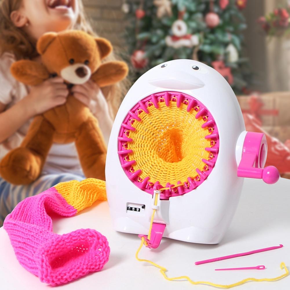 40 Needles DIY Plastic Hand Knitting Sewing Machine Round Knitting Machine Children Weaving Toy Tool Accessories Hand Knitting Machine