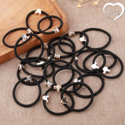 ฟรีแหวนผมเกาหลี 50 เม็ดพร้อมลูกปัดทองคำ 50 ไข่มุกและเครื่องประดับผมวงยาง   Free 50 Korean Hair Rings with Gold Beads, 50 Pearls, Hair Accessorie Rubber band
