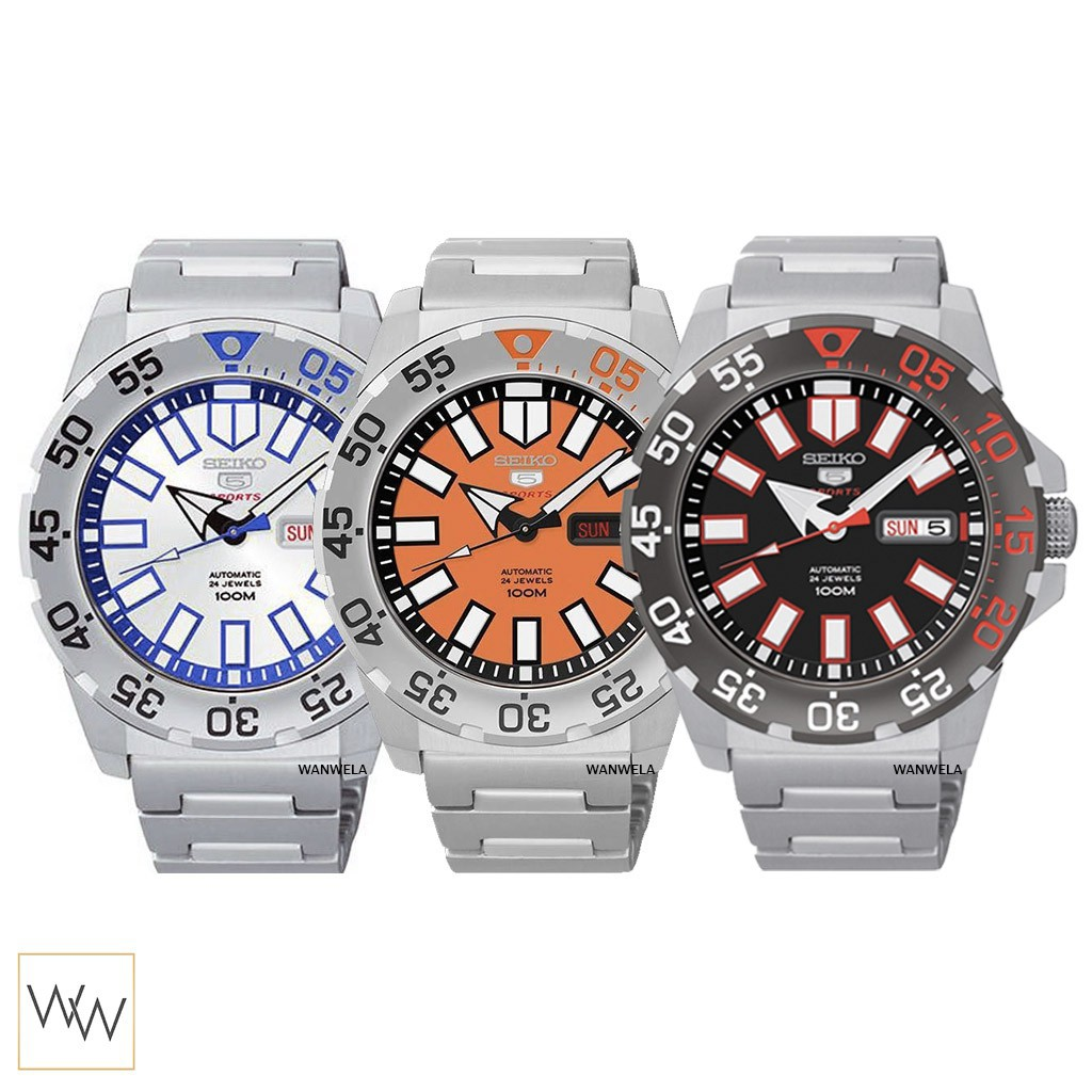 【พร้อมสต็อก】 ของแท้ นาฬิกาข้อมือ Seiko Mini Monster ประกันศูนย์ พร้อมกล่อง