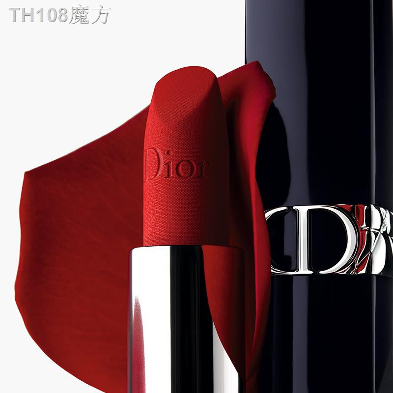 A☌[ตัวอักษรที่กำหนดเอง] ใหม่ Dior Dior Blue Gold Lipstick ลิปสติก Legend Velvet 999 720