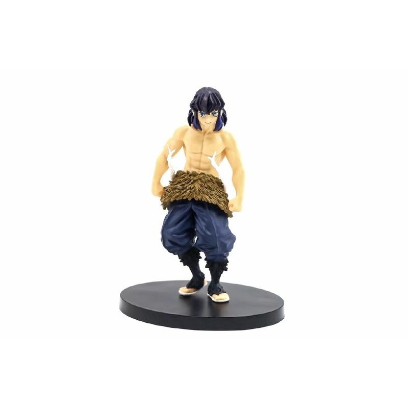 Anime Demon Slayer Hashibira Inosuke Figure Human Head Standing Pose Model Toy