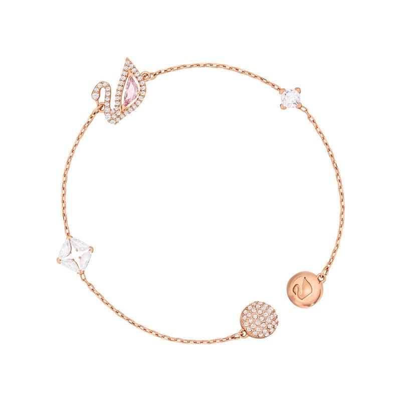 สร้อยข้อมือ Bracelets 【ตรง】SwarovskiสวารอฟสSWANใหม่สร้อยข้อมือหงส์กุหลาบชุบทอง5472271
