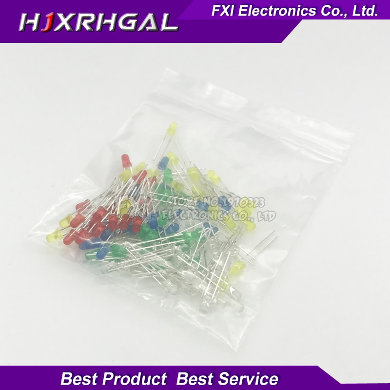 1//4w resistor 70* F5 led Assorted kit Red Blue Green Yellow Pink Purple White