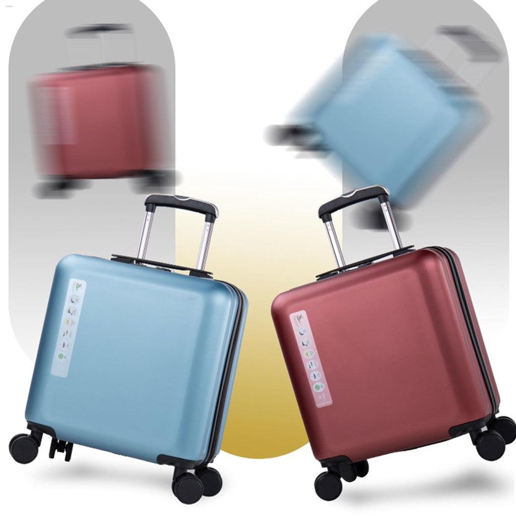 ☌กระเป๋าเดินทางสำหรับธุรกิจขนาดเล็กและน้ำหนักเบา กระเป๋าเดินทางสำหรับรถเข็นสำหรับสุภาพสตรีขนาด 18 นิ้ว ผู้ชาย 20 นิ้ว รห