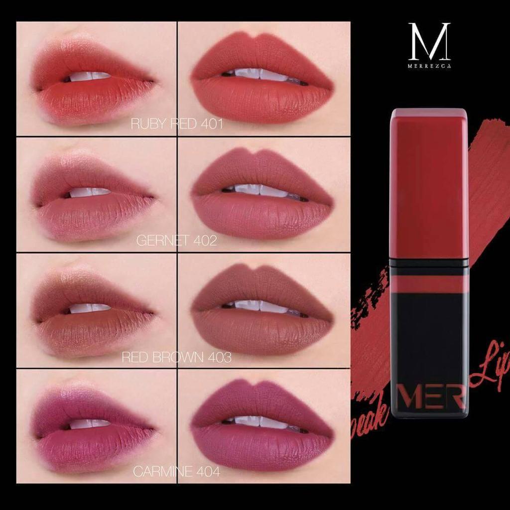 Speak Velvet Lip Merrez'ca ลิปครีม
