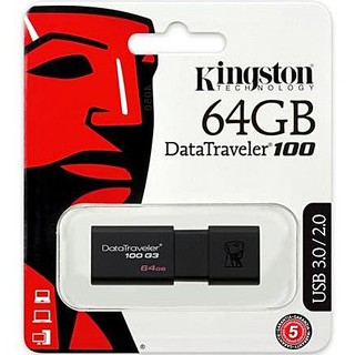 Review 64 GB FLASH DRIVE (แฟลชไดร์ฟ) KINGSTON (DT100G3/64GB) USB 3.0 รับประกัน 5 - Y