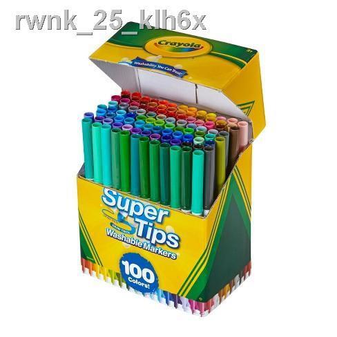 🔥มีของพร้อมส่ง🔥ลดราคา🔥▧◊Crayola Supertips 100 สี