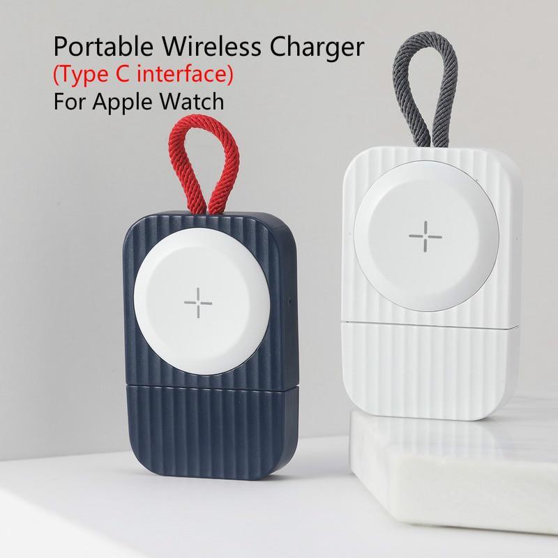 สาย applewatch สายนาฬิกา applewatch Rock อุปกรณ์ที่ชาร์จแบบไร้สาย ( Type C Interface ) สําหรับ Apple Watch Se Series 6 /