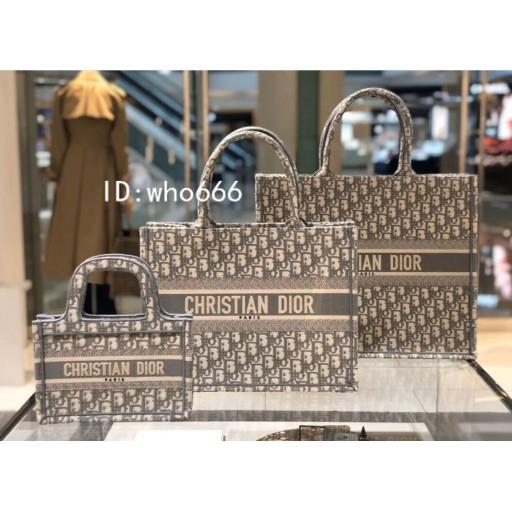 [QI]DIOR DIOR BOOK TOTE Blue Grey Burgundy Oblique Embroidered Mini Small Medium Shopping Bag Handbag S