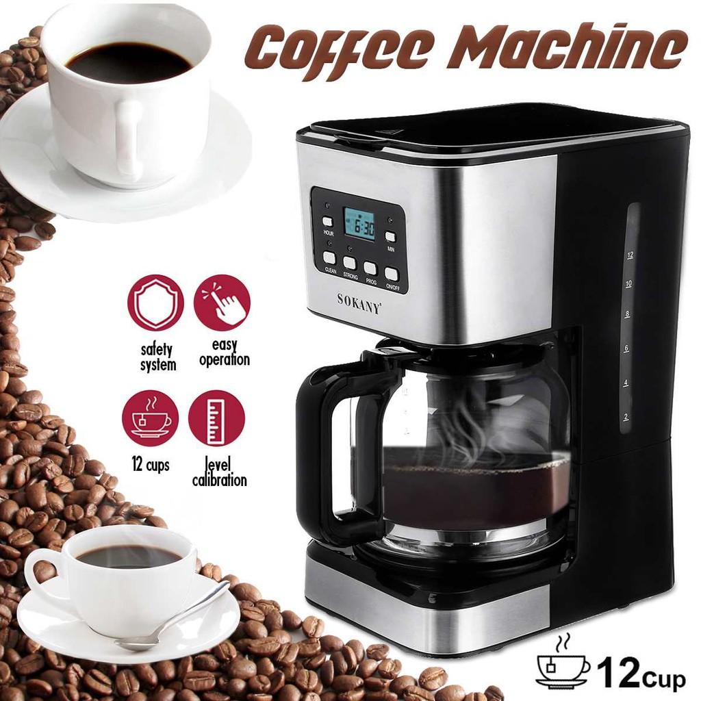 เครื่องกาแฟ ชงกาแฟ เครื่องทำกาแฟ SOKANY เอสเปรสโซ่ Cappuccino Latte 220V กึ่งอัตโนมัติ  --สินค้ามีพร้อมส่ง--