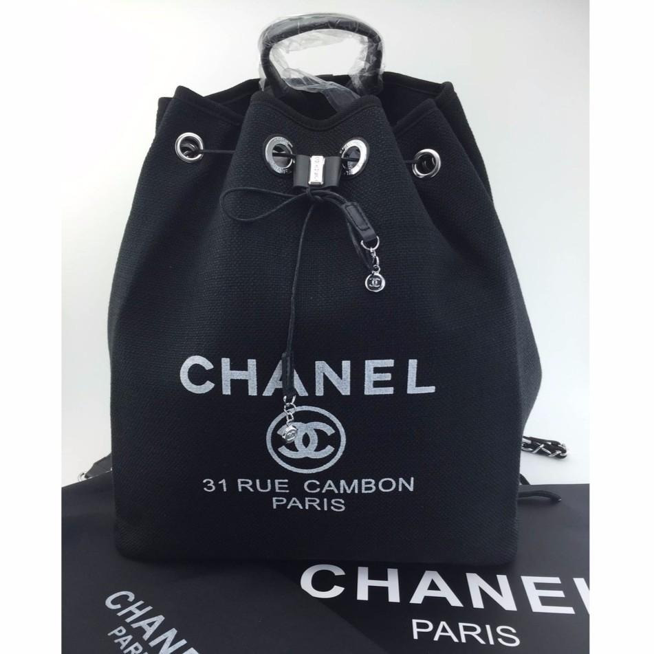 5d35e7731284 Chanel Rue Cambon Backpack สีดำ vip gift bag   Shopee Thailand