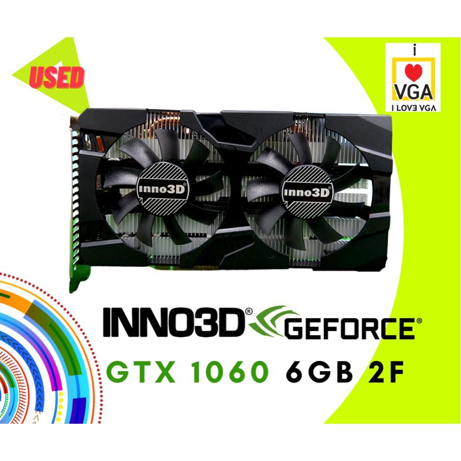 การ์ดจอ INNO3D GTX1060 OC 6GB 2F No Box (ประกัน Strek ถึง 06/2021)
