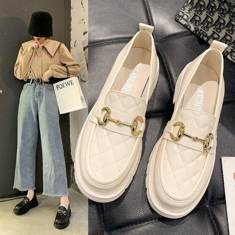 ร้องเท้า รองเท้าผู้หญิง รองเท้าคัชชู ★Laofu รองเท้ารองเท้าผู้หญิง 2021 รองเท้าใหม่เด็กหลายร้อยของนักเรียนรองเท้าหนังขนาด