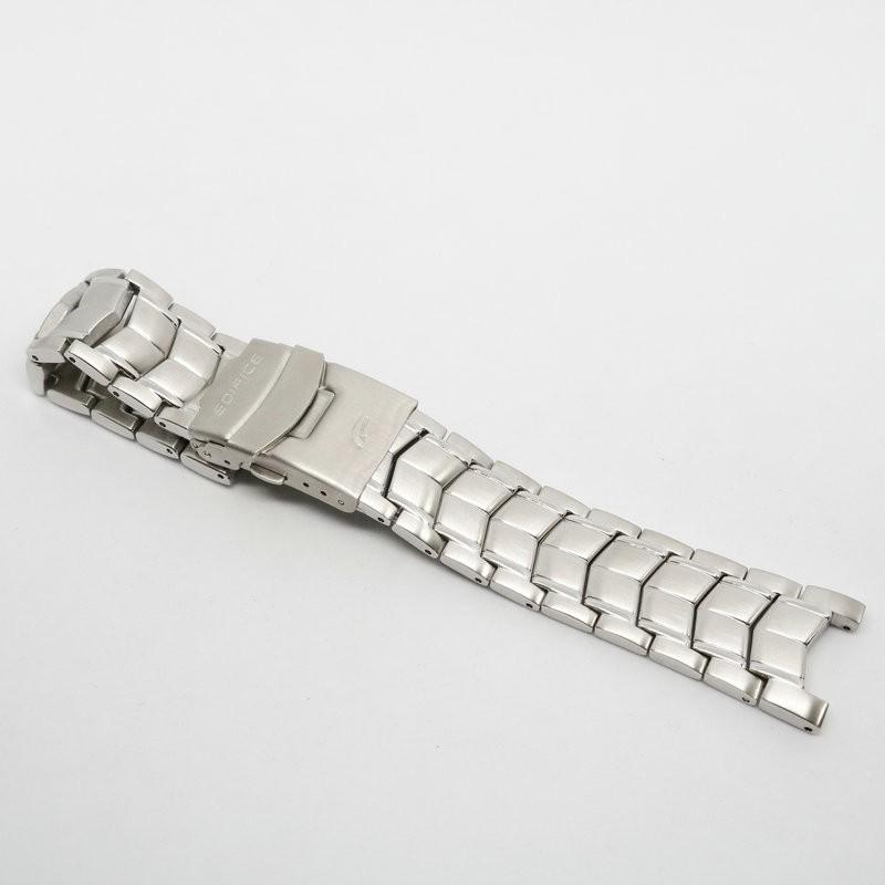 ☢۩❈สำหรับนาฬิกา Casio EF-524 5051 ตัวผู้สายสแตนเลสที่เป็นของแข็ง สายสแตนเลส สร้อยข้อมือเหล็กหัวเข็มขัด