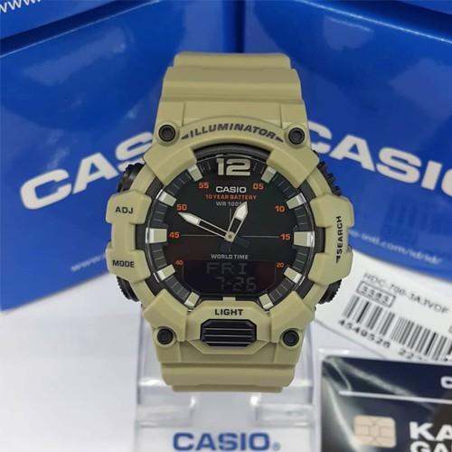 CASIO Standard นาฬิกาข้อมือผู้ชาย สายเรซิน รุ่น HDC-700-3A3VDF 0dTz