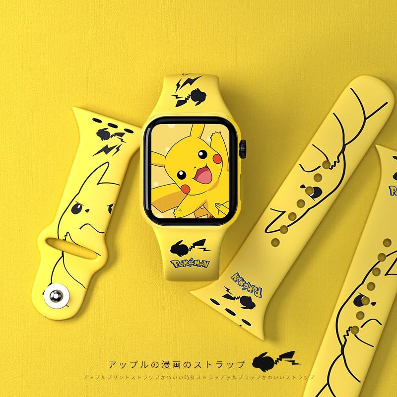 สายนาฬิกาข้อมือลายการ์ตูนสําหรับ Applewatch6 / Se 44 / 42 / 4
