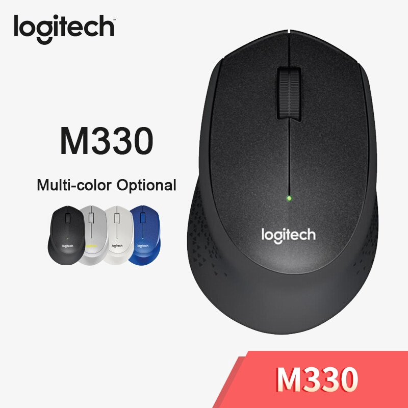 Logitech M 330 เมาส์ไร้สายพร้อม 2 . 4 Ghz Usb 1000 Dpi สําหรับคอมพิวเตอร์/แล็ปท็อป
