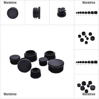 "2 Black 22mm 7//8/"" Plastic Blanking End Caps Inserts Plug Bung Round Tube Insert"