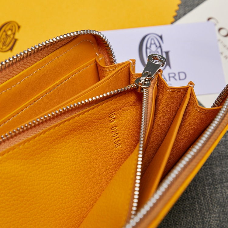 ™❁Bags for Women Upgraded Goyard with Leather Cowhide Long Zip Wallet Handbag Multi compartment Wallet Purses and Luxury