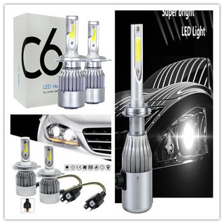 2pcs c6 led headlight h4 9006 9005 car headlight led bulb ไฟหน้า