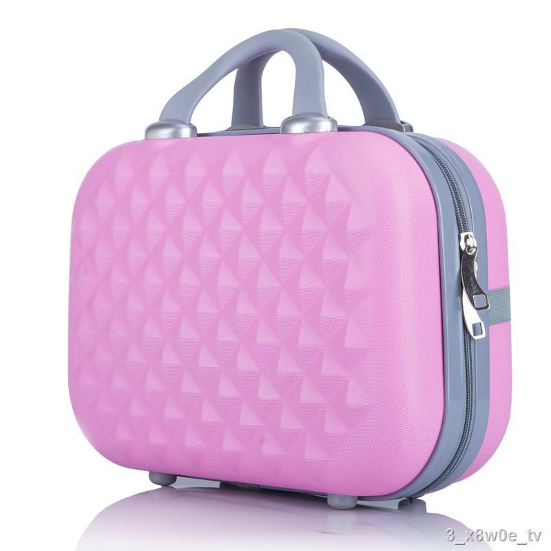 №☌❈กระเป๋าเครื่องสำอางขนาด 14 นิ้วกระเป๋าเดินทางมินิหญิงกระเป๋าใส่เครื่องสำอางขนาดเล็กกระเป๋าเดินทางแบบพกพากระเป๋าผู้ห