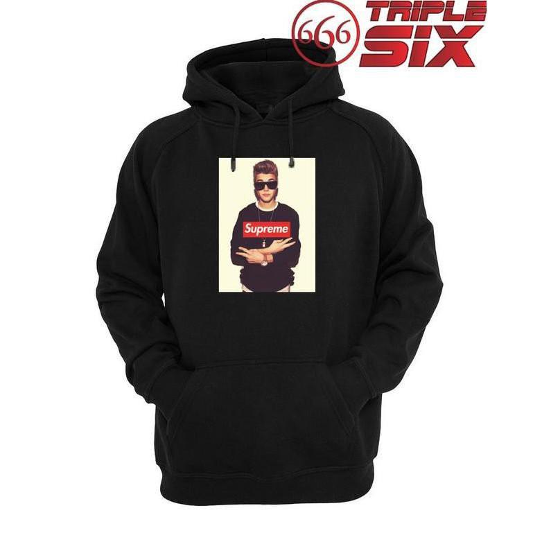 แท้100%เสื้อกันหนาว Supreme Justin Bieber สําหรับผู้ชายผู้หญิง